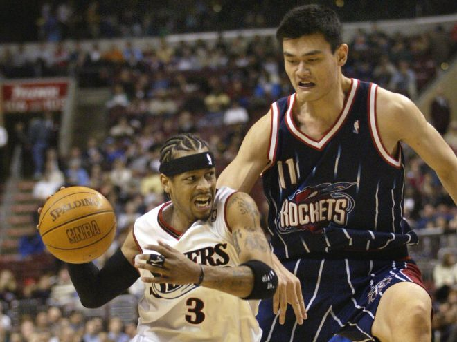 Yao Ming poked fun at Allen Iverson's practice rant and Shaq's ...