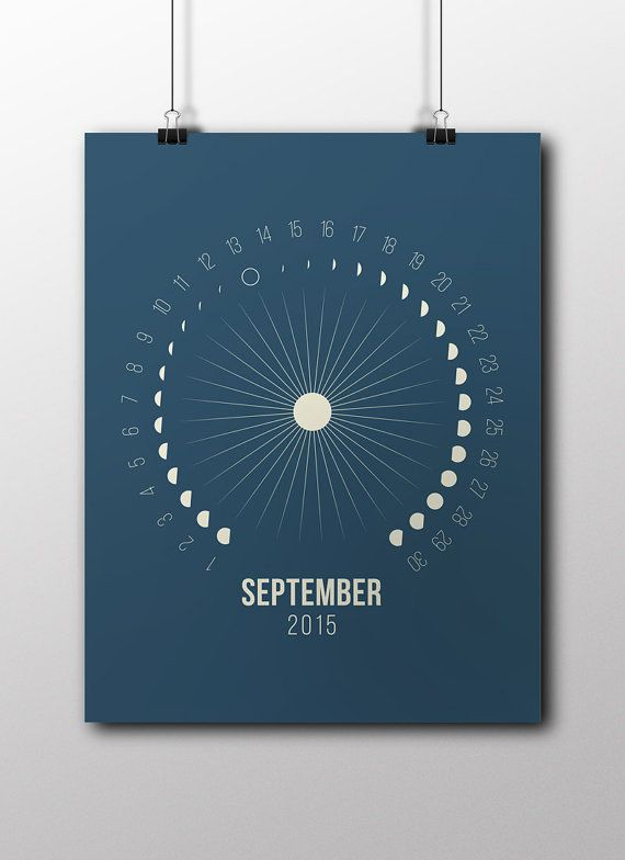 Printable Moon Calendar September October November by Illusorium