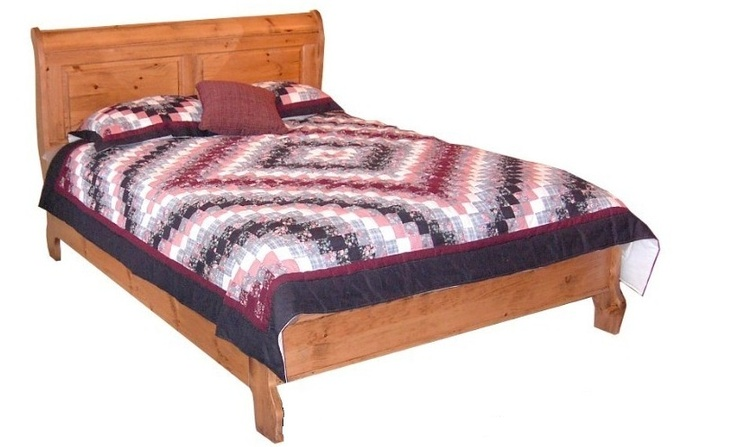 Canadian Woodcraft  - Pioneer Sleigh Bed (with low foot board), $795.00 (http://www.canadianwoodcraft.ca/accesories/pioneer-sleigh-bed/)