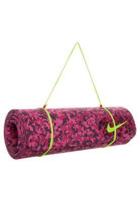 TRAINING MAT - Fitness/yoga - hyper pink/fuchsia force/deep burgundy