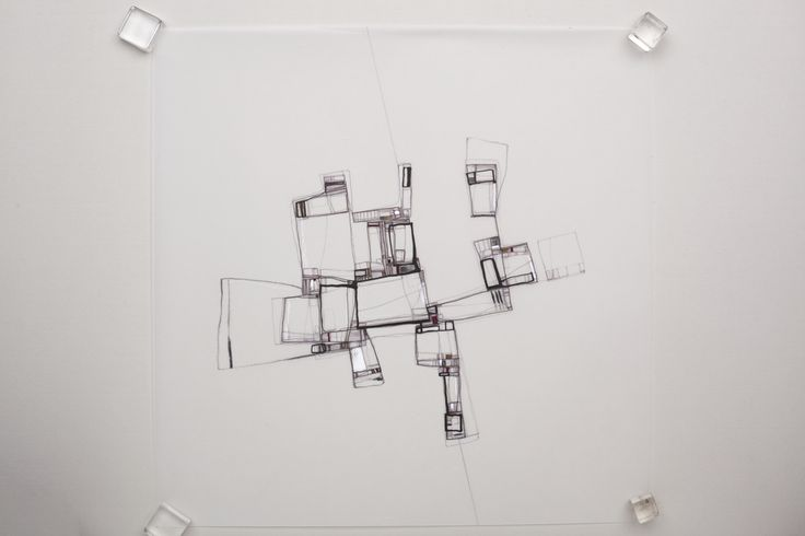 Urban morphology. Artworks / Drawing on tracing paper. Mixed media, ink, pencil, acrylic. 2016