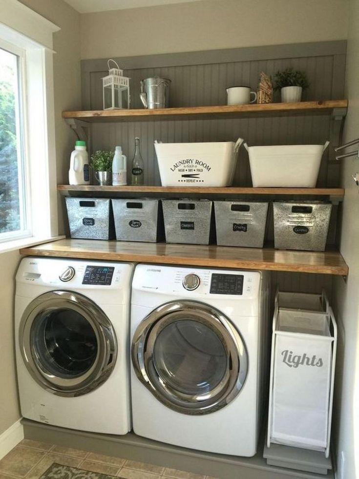 18 inspirations déco pour une salle de lavage rustique – Décorations – Trucs e…