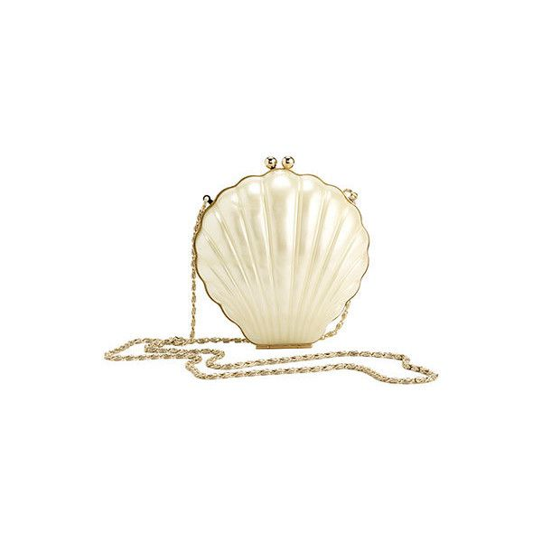 RICO PEARL SHELL RESIN BAG WITH METAL FRAME ($195) ❤ liked on Polyvore featuring bags, handbags, clutches, purses, accessories, bolsas, shell purse, beige handbags, man bag and handbags purses