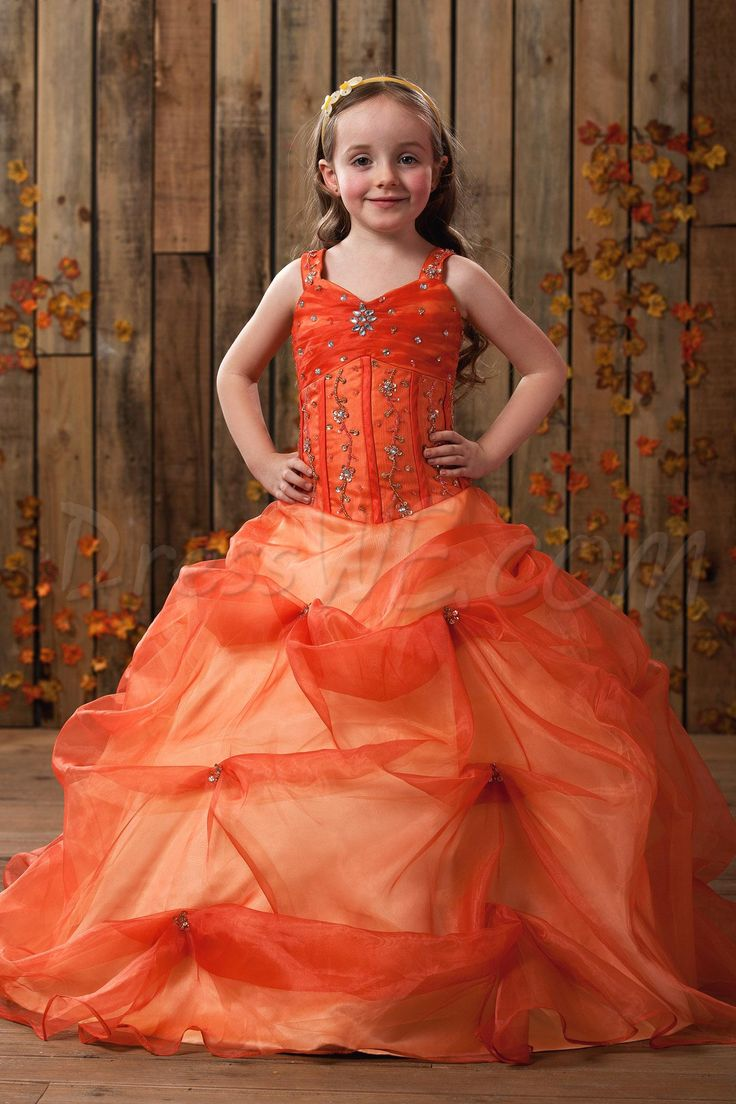 $101.99 Dresswe.com SUPPLIES Amazing Ball Gown Straps Floor-length Beading & Ruched Flower Girl Dress