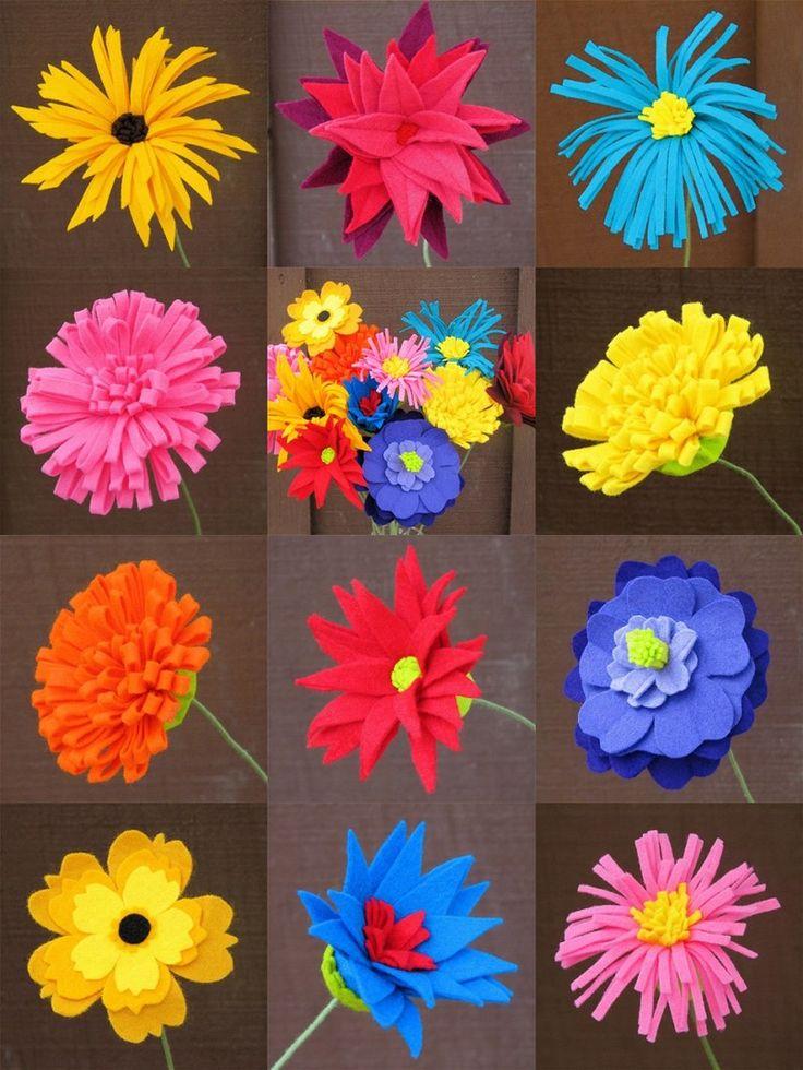 Afbeeldingsresultaat voor bloemen knutselen pinterest