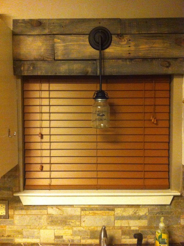 Pallet window cornice board.