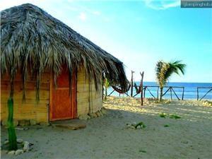 Rustic Bamboo Beachfront Huts in Canoas de Punta Sal, Northern Peru