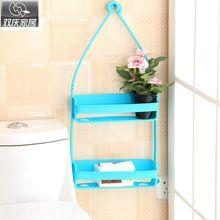 Baño shevles inconsútil mágica caja de jabón de baño cocina lavabo repisa de plástico creativo de almacenamiento titular towl rack ganchos(China)