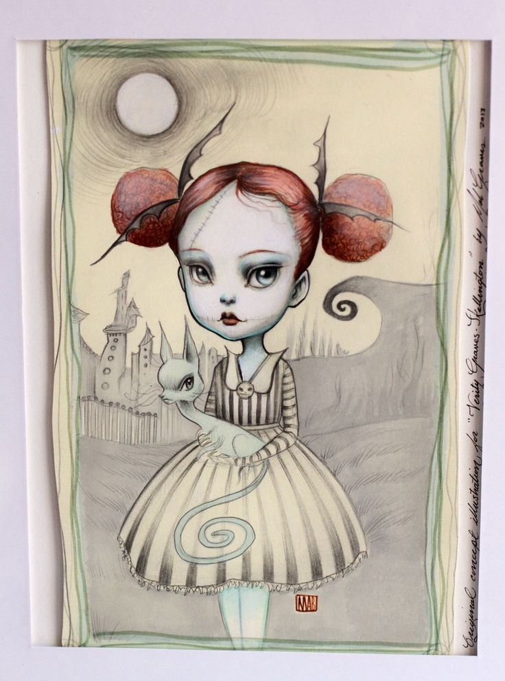 Mab Graves - Her Waifs and Strays — Verity Graves-Skellington - original pop surrealism concept illustration by Mab Graves