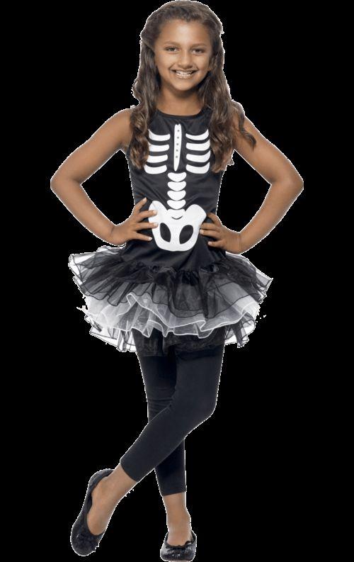 Kinder Skelet Tutu Kostuum Meisje