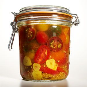 Healthy Recipe: Pickled Tomatoes: Organic Gardening