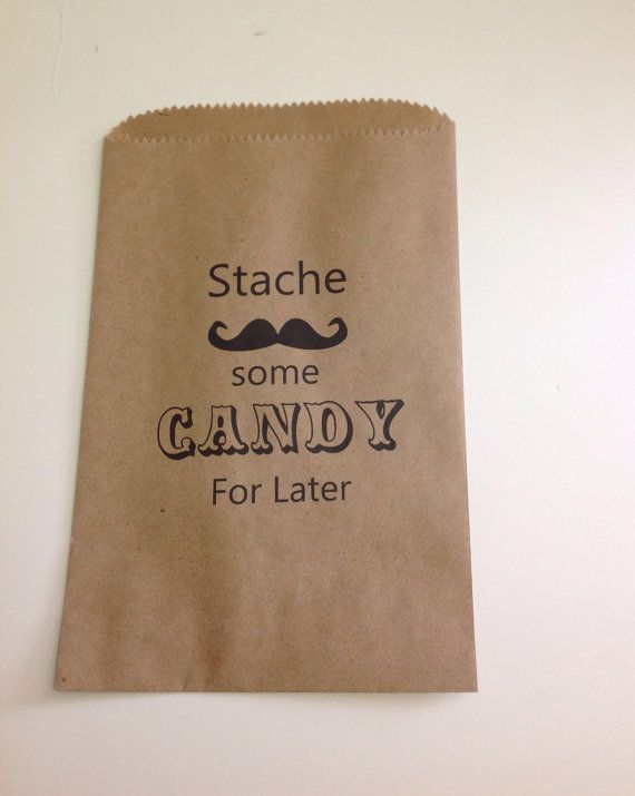 Candy Stache Candy Buffet Bags, weddings, baby showers, Candy Buffet Favor Bags, Party Bags, Candy Bags