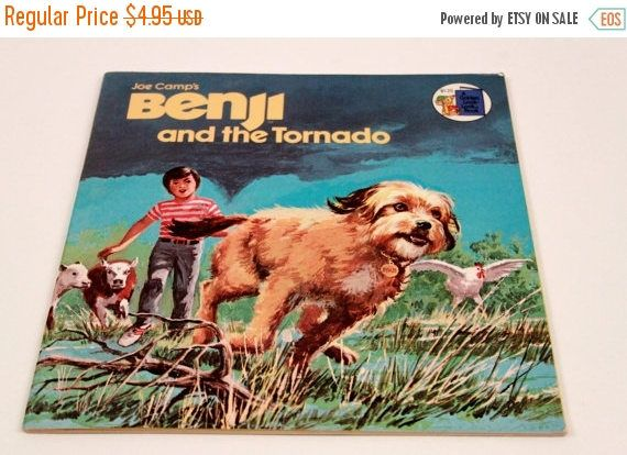 Benji and the Tornado - 1980s Dog - Vintage Picture Books The Pink Room  170306 by ThePinkRoom