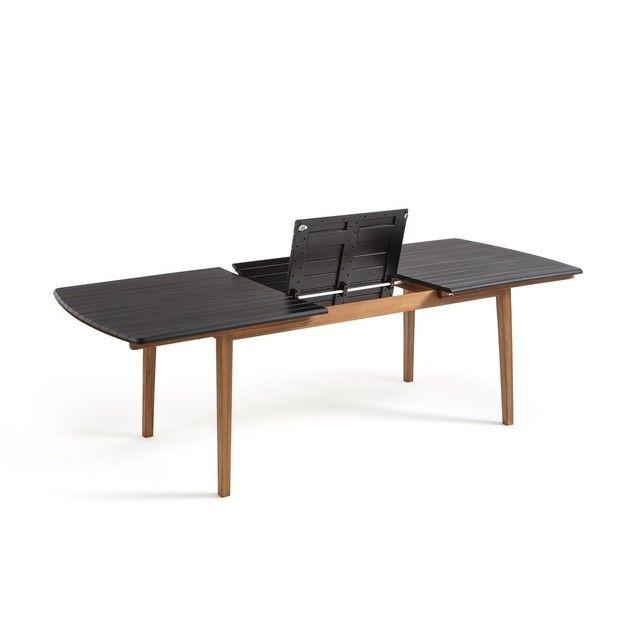 Table De Jardin A Allonge Acacia Wiseron Noir La Redoute Interieurs La Redoute Mobile Table De Jardin Table De Jardin Ronde Table