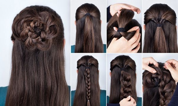 Braided Rose Hairstyle Styles At Life Hair Styles Long Hair Styles Medium Hair Styles