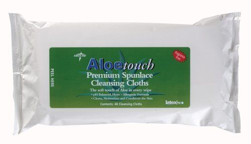 Medline Aloetouch Cleansing Cloths, 48-Count Package (Pack of 12) by Medline. $32.95. Aloetouch premium cleansing cloths are alcohol free, lightly scented, and they contain aloe vera and lanolin.