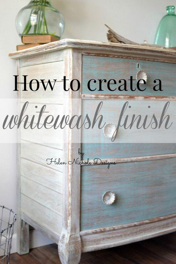How To Whitewash Furniture Helen Nichole Designs White