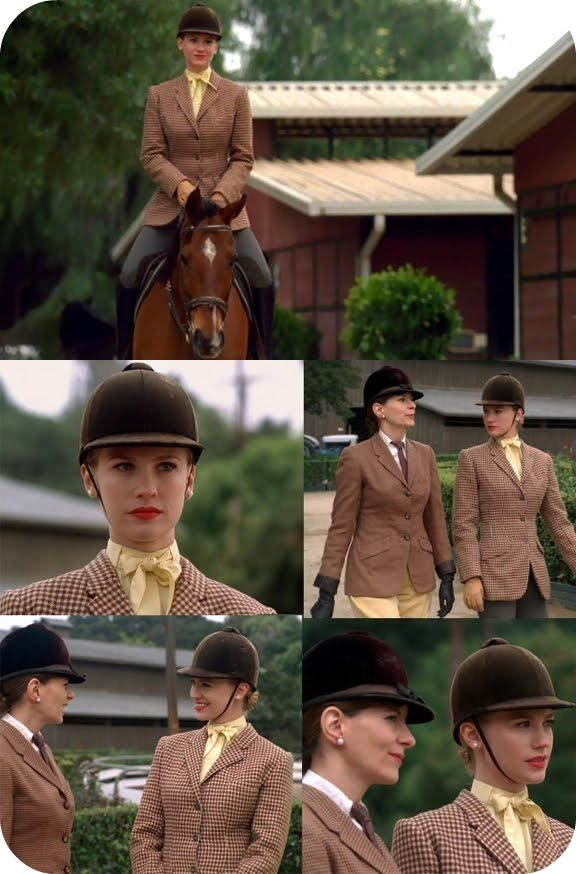 She looked an absolute beauty in the horse riding scenes. Betty Draper: Equestrian