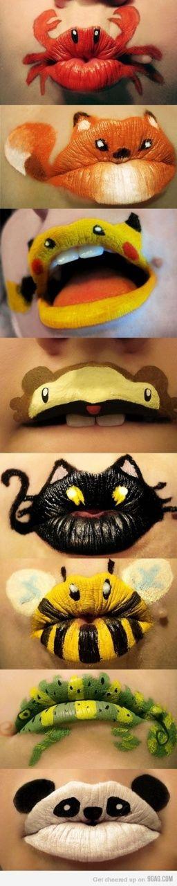 makeup lips for Halloween :)