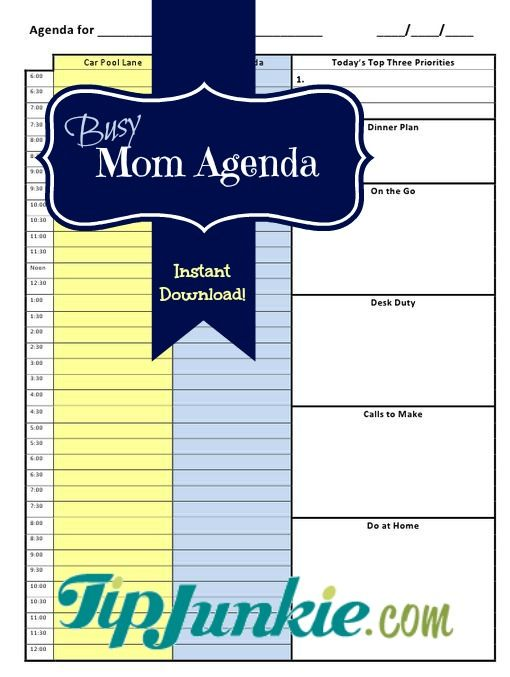 Best 25+ Mom agenda ideas on Pinterest Daily planner printable - family agenda