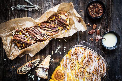 Z kynutého těsta připravíte polskou čokoládovou pletýnku, severské skořicové rolky i ryze český makový koláč