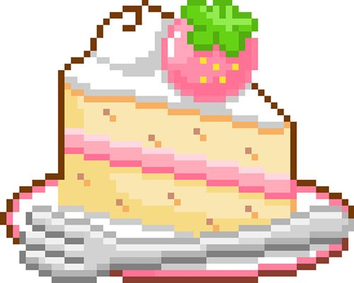 Cake Slice Pixel Art : 17 Best images about Pixel Art on Pinterest Perler bead ...
