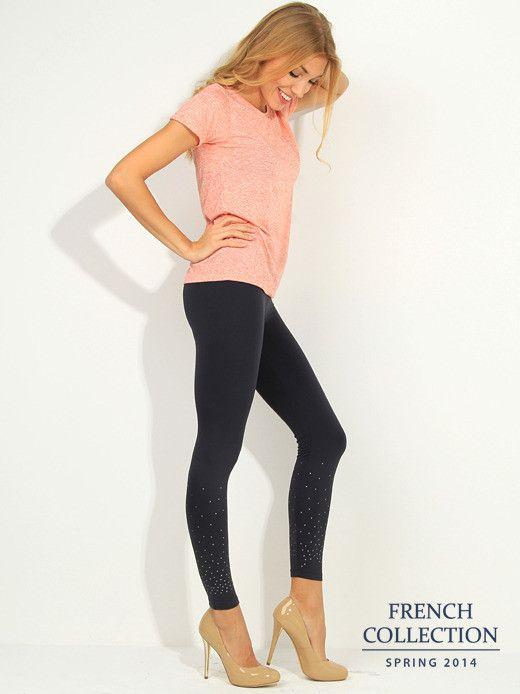 T-shirt pomarańczowy Bluzki \ gładkie \ krótki rękaw French Collection \ Bluzki \ gładkie Butik 133397