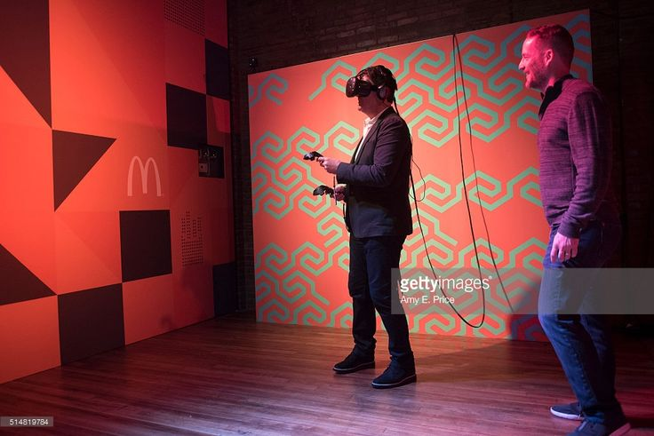 McDonald's President and CEO Steve Easterbrook participates in the virtual reality experience at the McDonald's Loft at TEXTILE at SXSW on March 11, 2016 in Austin, Texas.
