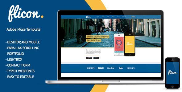 Flicon Mobile Develop Muse Theme (Corporate)