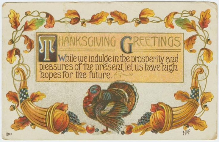 Vintage Thanksgiving greeting cards & verses - Thanksgiving.com