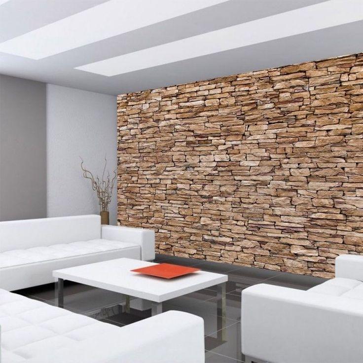 die besten 25 tapete in steinoptik ideen auf pinterest steinoptik wand steinoptik und ziegel. Black Bedroom Furniture Sets. Home Design Ideas