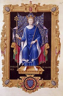 Philip VI of France - Little is recorded about Philip's childhood and youth, in large part because he was not of royal birth. Philip's father Charles, Count of Valois, the younger brother of King Philip IV of France,[1] had striven throughout his life to gain a throne for himself, but was never successful. He died in 1325, leaving his eldest son Philip as heir to the counties of Anjou, Maine, and Valois.