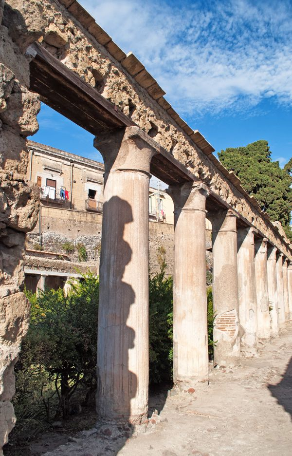 *HERCULANEUM, ITALY ~ Ruins at the ghost city of Herculaneum in Italy, buried in the eruption of the volcano Vesuvius