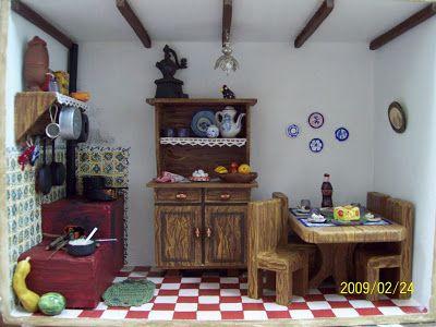 Aventura em Miniatura: Cozinha da fazenda - Rose
