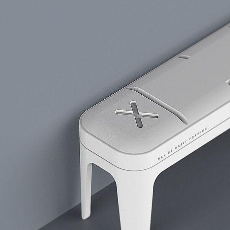 """86 次赞、 6 条评论 - Kaito (@kaitochoy) 在 Instagram 发布:""""May be habit forming. #xanax #bench #industrialdesign #productdesign #rendering #product #keyshot…"""""""