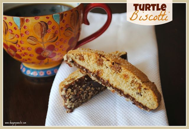 Turtle Biscotti - Shugary Sweets 3/14 Absolutely wonderful! Of coarse I used extra carmel bits! No chocolate needed.