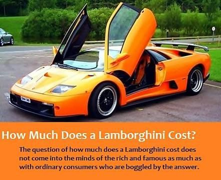Find out how much Lamborghini Diablo, Lamborghini Murcielago, Lamborghini Gallardo cost. And how much it is to rent a Lamborghini.