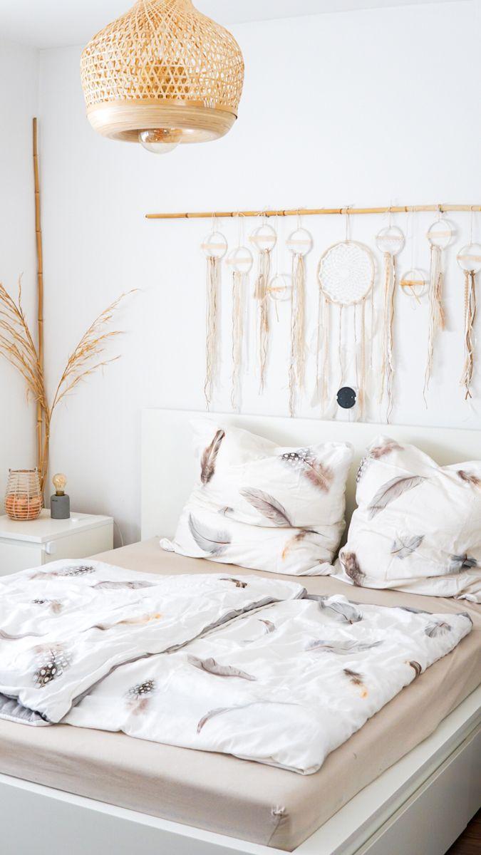 boho schlafzimmer diy wanddekoration wanddekorationen haus deko dekor silberne wand metall