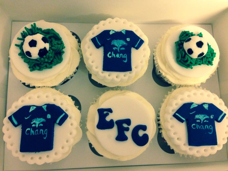 everton 60th birthday birthday ideas sporty desserts december cupcake ...