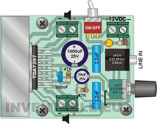 Amplificador ultracompacto de 15W + 15W | Inventable