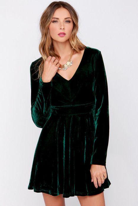 1000  ideas about Velvet Dresses on Pinterest  Red velvet dress ...
