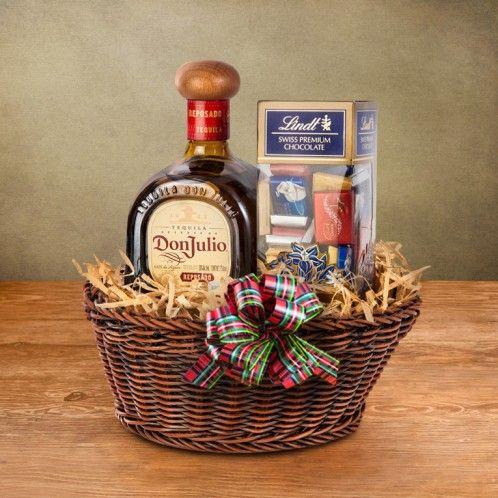 Canasta de Chocolates y Tequila Don Julio