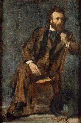 """Edgar Degas, """"Portrait de Gustave Moreau"""", huile sur toile, Paris Musée Gustave Moreau"""