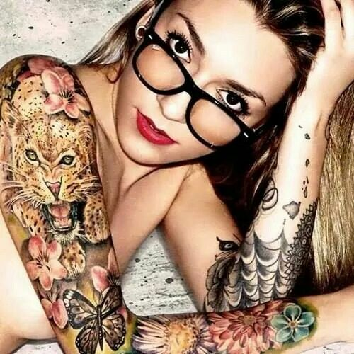 I'd trade the leopard for an owl and there you have it. My next 3/4 arm tat.