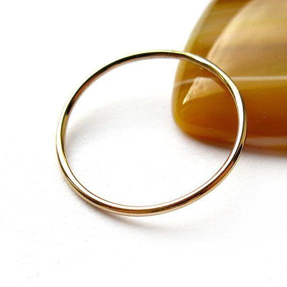 #Stacking #ring 1.0mm diameter by #ajjstudios on #Etsy