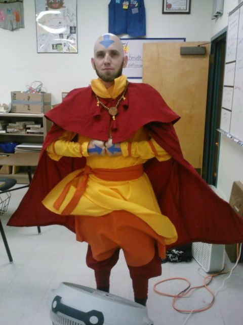 Avatar The Last Airbender...How freaking cool...Someone's math teacher dressed up