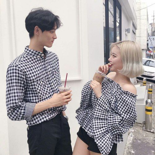 Imagem de asian, korean model, and couple look