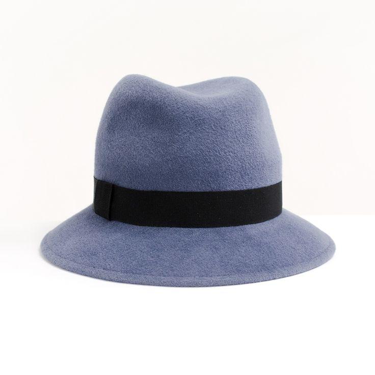 Шляпа федора серого цвета / Grey fedora hat