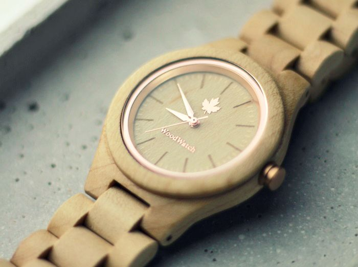 WoodWatch Rosegold woman