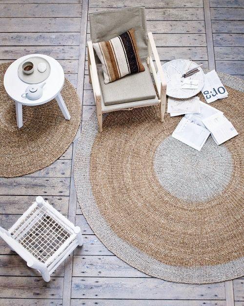elvs: natural... gorgeous round rug...